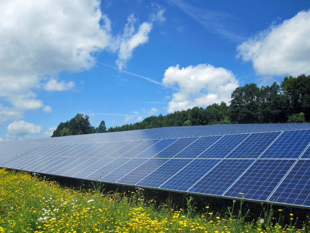 ATG Solar park 1,15 MWp with over 5000 solar panels in Winterbach